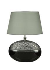 Элитная лампа настольная Silver&Black серый абажур от Sporvil