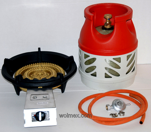 Комплект 32. Горелка газовая Wolmex KGS-22R1 с композитным баллоном и редуктором EN61 - Shell