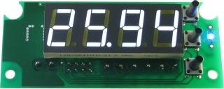 Цифровой встраиваемый термостат с выносным датчиком, белый.