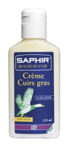 Крем для жированной кожи и жированного нубука, Saphir Greasy Leather, 125 мл. (2 цвета)