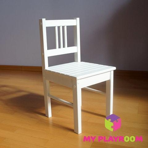 Детский деревянный стульчик, белый 3