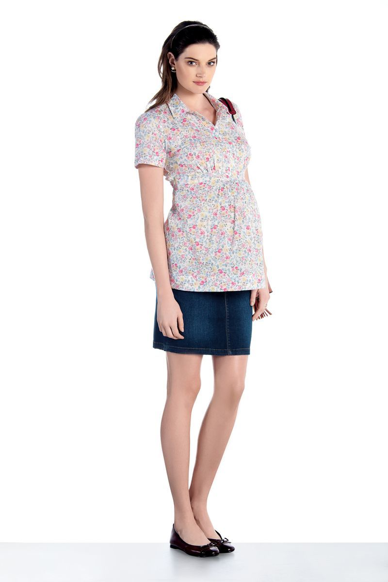 Блузка для беременных 07433 белый