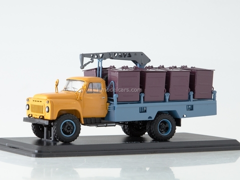 GAZ-53 M-30 Container garbage truck early yellow-blue 1:43 Start Scale Models (SSM)