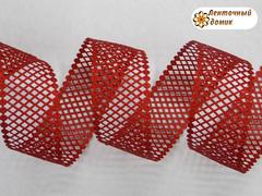 Лента-сеточка красная ширина 38 мм