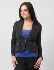 4315-1 пиджак женский, темно-серый