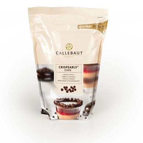 Шоколадные жемчужины Crispearls темные, Callebaut, 50 гр