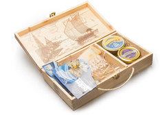 Астраханский набор в деревянной шкатулке, Medium