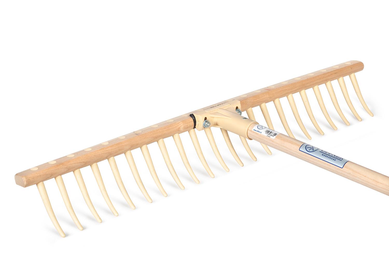 Грабли для сена, деревянные, с пластиковыми зубцами OFFNER