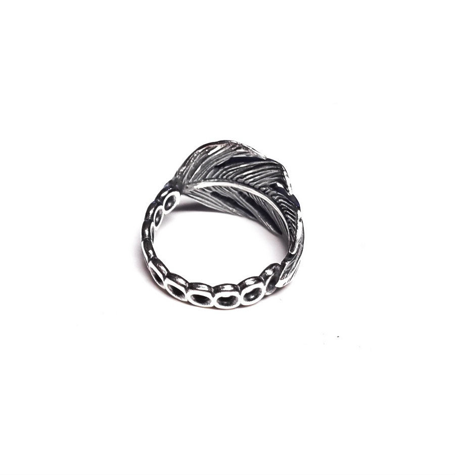 Feather  Modular Ring, sterling silver