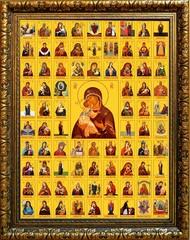 Собор Богородичных икон. Икона на холсте.