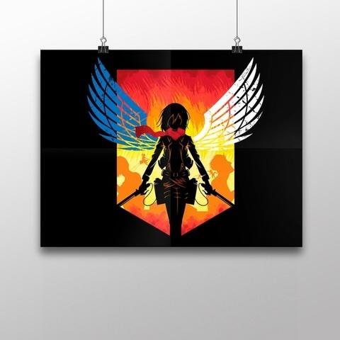 Плакат с Микасой
