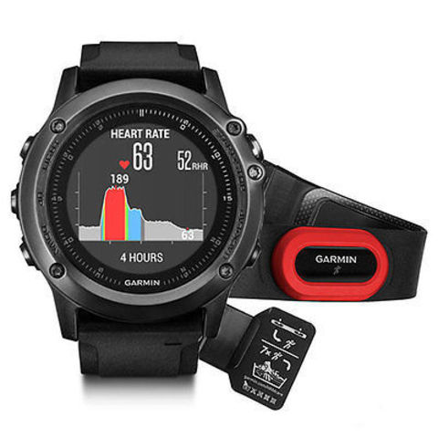 Купить Спортивные часы Garmin Fenix 3 Sapphire HR (со встроенным и нагрудным пульсометром) 010-01338-74 по доступной цене