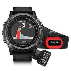 Спортивные смарт часы Garmin Fenix 3 Sapphire HR (со встроенным и нагрудным пульсометром) 010-01338-74
