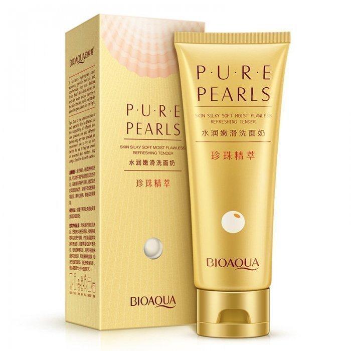 Bioaqua Пенка для умывания с жемчугом Pure Pearls Cleansing Foam, 100 г