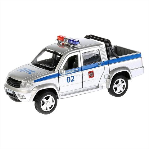 UAZ Pickup DPS Police double cab Technopark 1:43