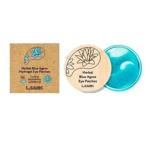 Патчи гидрогелевые для области вокруг глаз с экстрактом голубой агавы L.Sanic Herbal Blue Agave Hydrogel Eye Patches 60шт