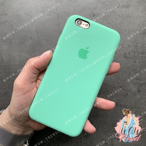 Чехол iPhone 5/5s/SE Silicone Case /spearmint/ яркая мята 1:1