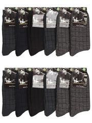 5420 BOYI носки мужские 42-48 (12шт), цветные