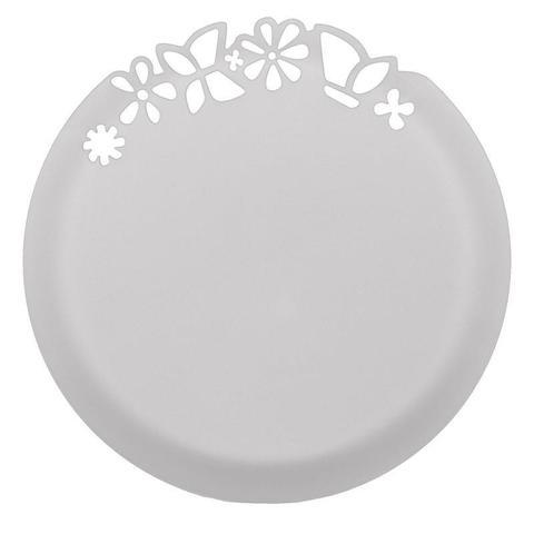 Тарелка одноразовая - блюдо с ажурным краем белое 27,3 см ПП 6 шт/уп
