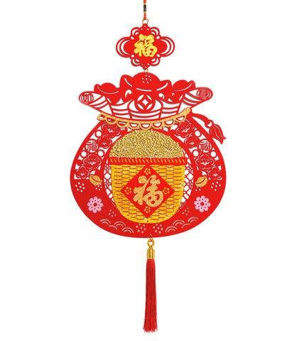 Подвеска CNY чаша с рисом