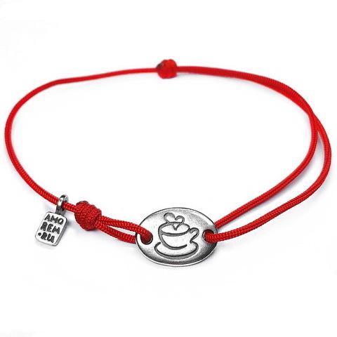 Coffee Bracelet , Sterling Silver