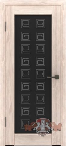 Дверь Л8ПО1 (капучино, остекленная экошпон), фабрика Владимирская фабрика дверей