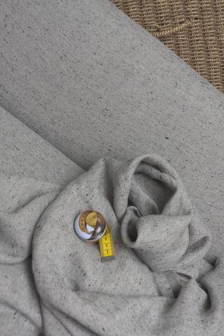 Ткань льняная с ШЕЛКОМ на натуральном фоне