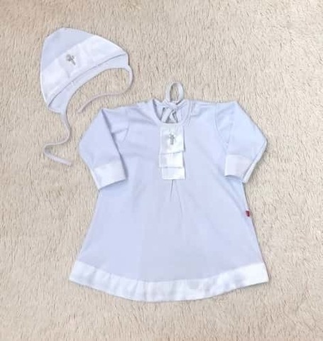 Крестильная рубашка для малыша Великолепие белая