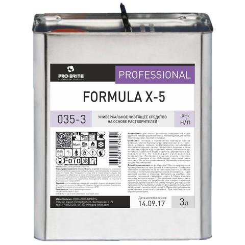 Профессиональная химия Pro-Brite FORMULA X-5 3л(035-3),удал-есложн.пятнен