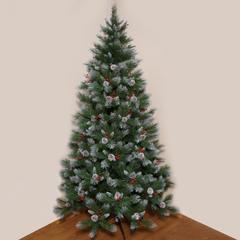 Ёлка Triumph Tree Шарлотта Шишки + Ягоды Заснеженная 155 см