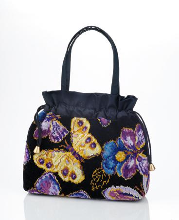 Элитная сумка-косметичка шенилловая Mariposa ТА21 10 schwarz от Feiler