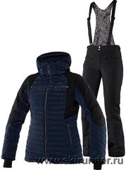 Тёплый горнолыжный костюм Charlie Navy Poppy женский