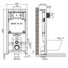 Инсталляция для подвесного  унитаза Jacob Delafon E29025-NF схема