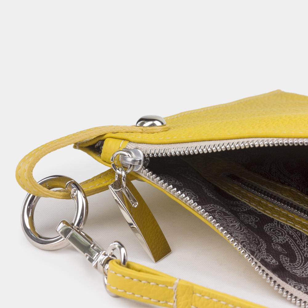 Женская сумка Suzanne Easy из натуральной кожи теленка, желтого цвета