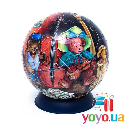 Шаровый 3D Пазл Pintoo - Медведи 60 деталей 15 см
