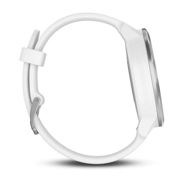 Garmin Vivoactive 3 серебристые с белым ремешком