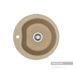 Мойка Акватон Мида 1A712732MD220 для кухни из искусственного камня, цвет песочный