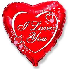 F Сердце Я тебя люблю, Сердца рядом с надписью, 18