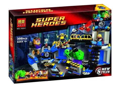 Конструктор супер герои Bela 10241,398д Халк разрушает лабораторию
