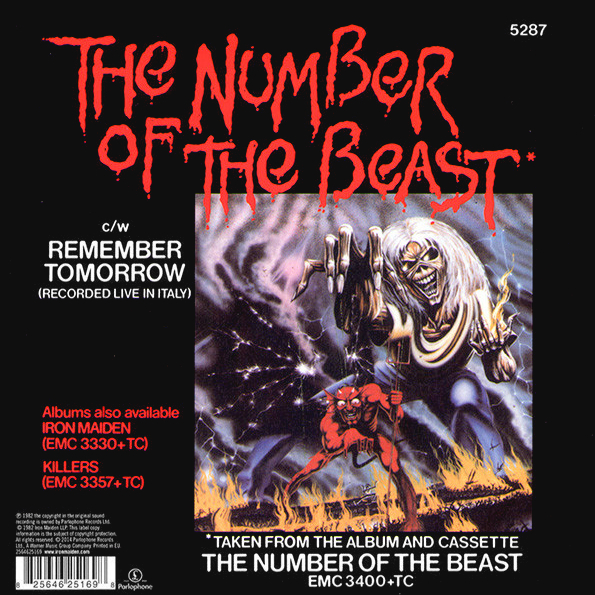 "Iron Maiden Number Of The Beast Single Iron Maiden ""The ..."