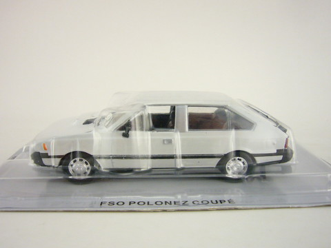 FSO Polonez Coupe white 1:43 DeAgostini Kultowe Auta PRL-u #64