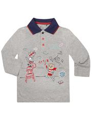 BTS009463 рубашка детская, серый меланж