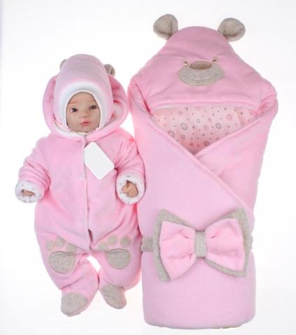 Набор на выписку Little Bear розовый