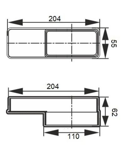 Соединитель эксцентриковый 110х55/204х60