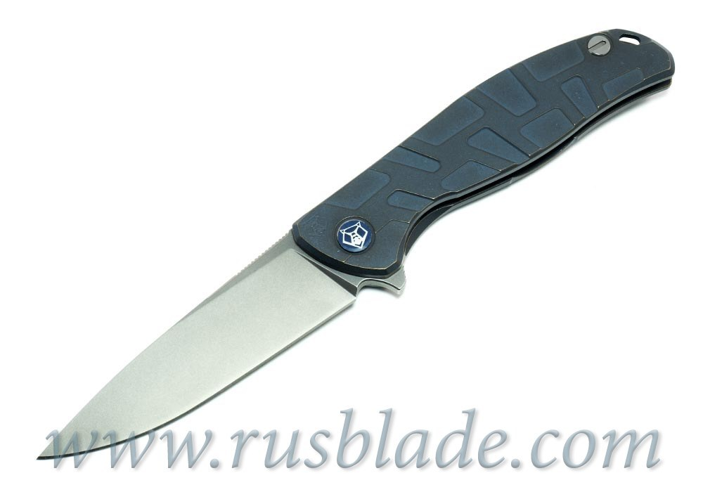 Shirogorov Flipper 95 М390 FS T-mode Blue Anodized