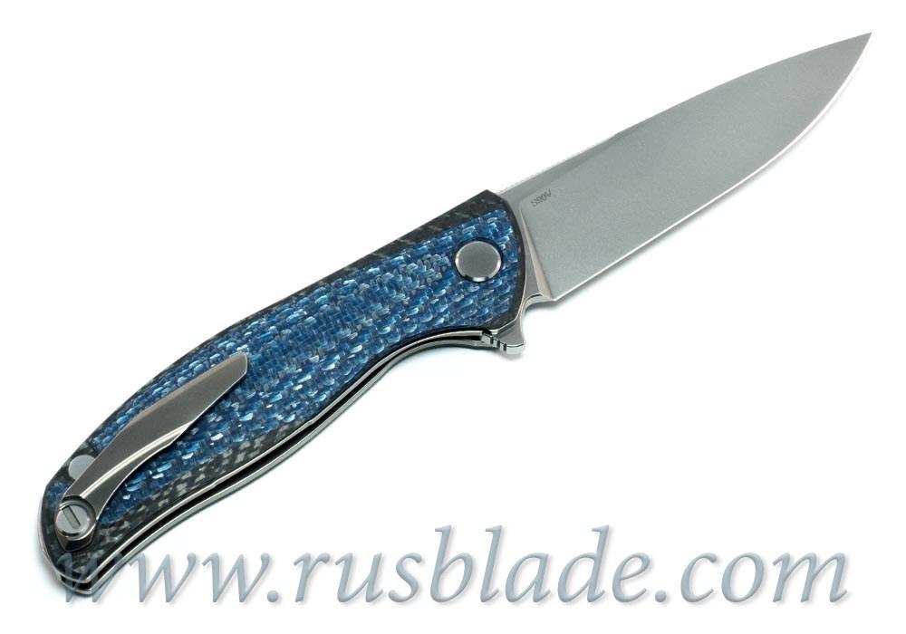 CUSTOM Shirogorov F3 Blue CF S90V Custom Division