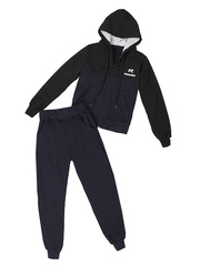 BL23-3 спортивный костюм детский, черно-синий