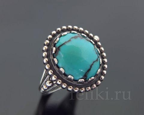кольцо с бирюзой кс-7184