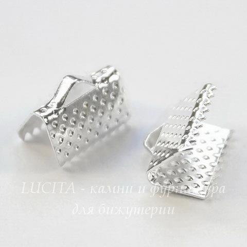 Концевик для лент 10 мм (цвет - серебро), 10 штук