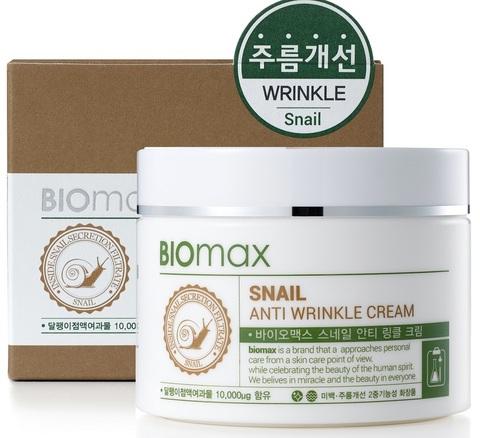 Крем с экстрактом слизи улитки против морщин BIOmax